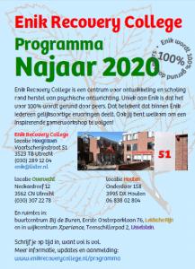 Programma Najaar 2020 van start!