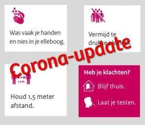 Corona-update: maatregelen versoepeld